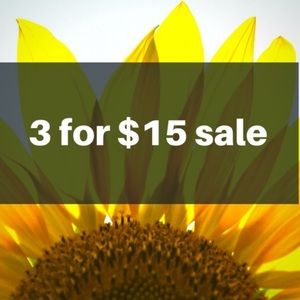 🌻🌻 3 for $15 🌻🌻 anything with a 🌻 in listing